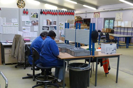 L'atelier de L'ESAT du Champ Fleuri