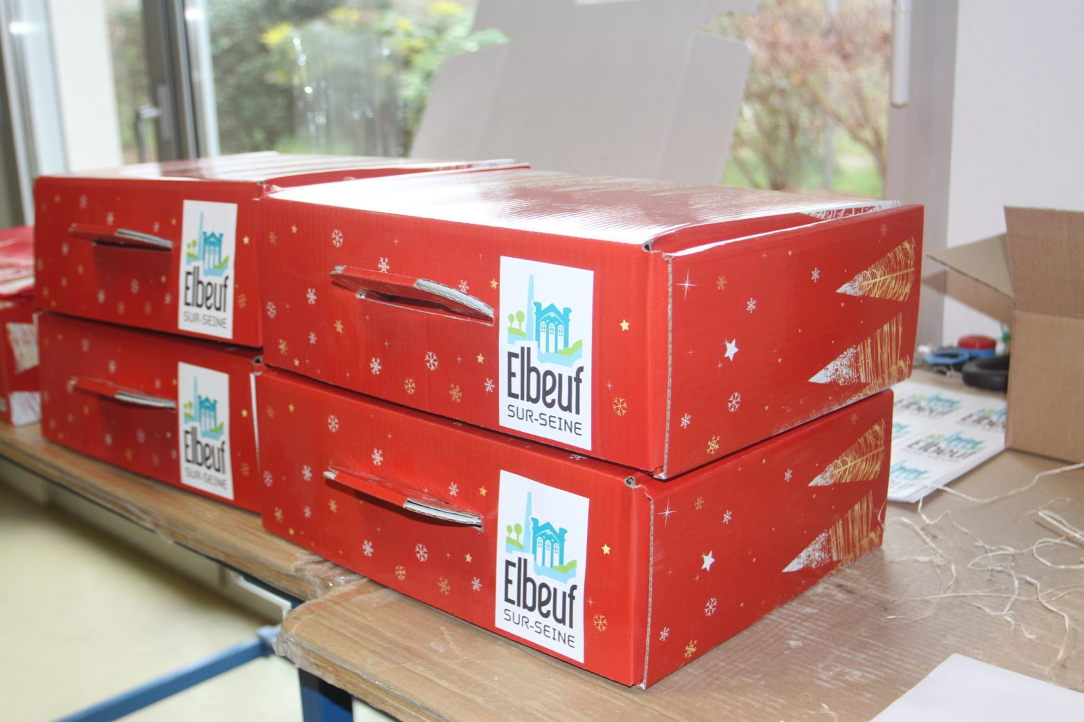Colis des ainés confectionnés à l'ESAT du Champ Fleuri